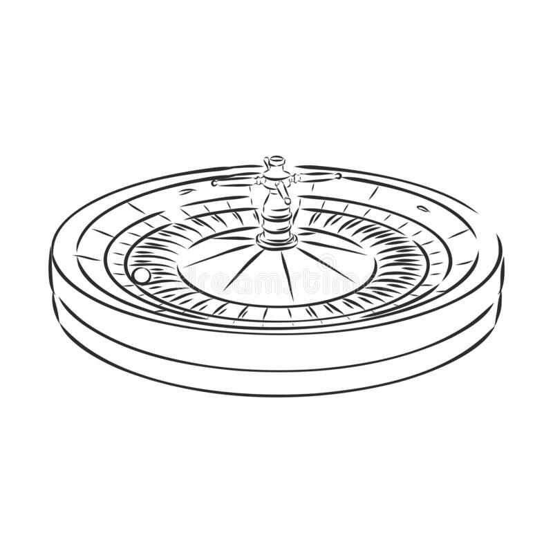Casino Roulette Wheel Hand Draw Sketch Vintage Retro Style Elements For  Your Design. Vector Illustration. Casino Roulette, Vector Stock  Illustration - Illustration of hand, number: 185487634